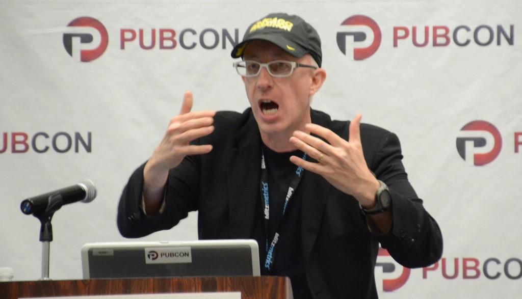 Sage Lewis at Pubcon New Orleans 2013.