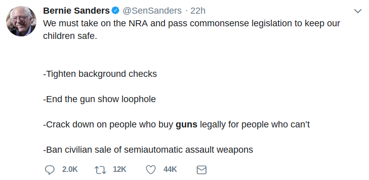 "902b96736d5 Bernie Sanders is the knight in shining armor for ""Progressives"" in  America. Here is his stance on guns"